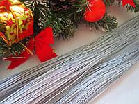 Шнур люрексовый, d 1 мм, цвет серебристый, 5 м