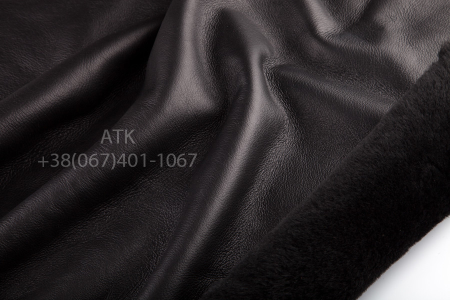 Дубленка Мерино т/т черная с покрытием