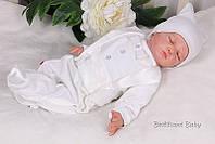 """Нарядный человечек для младенца  """"Фрак"""" р.62 (молоко)"""