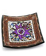 Тарелка декор с мозаикой