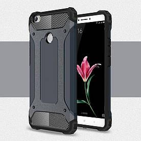 Чехол накладка для Xiaomi Mi MAX противоударный, Spider. Темно-синий