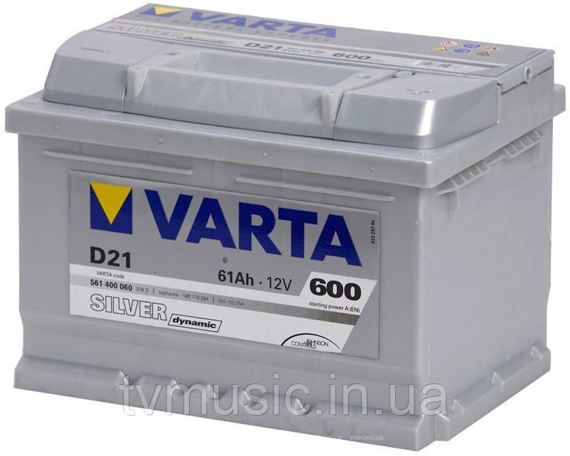Аккумулятор для легкового автомобиля Varta Silver Dynamic D21 61Ач Об - фото 11
