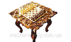 Шахматный стол , резьба по дереву