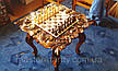 Шахматный стол , резьба по дереву, фото 5