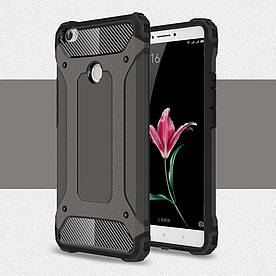 Чехол накладка для Xiaomi Mi MAX противоударный, Spider. Темно-коричневый