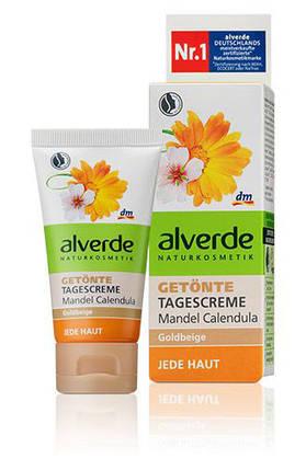 Крем дневной для лица тоннирующий с экстрактом календулы и миндальным.маслом Alverde 50мл, фото 2