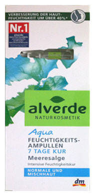 Увлажняющие ампулы с экстрактом морских водорослей для норм и смешаной кожи Alverde, фото 2