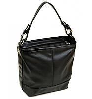 Черная женская сумка на плече
