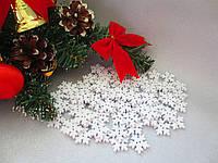 """Пуговицы деревянные """"Снежинка-2"""", цвет белый, 10 шт."""