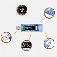 Зарядное USB тестер проверка емкость АКБ напряжение ток