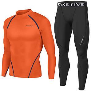 Комплект Take Five рашгард + компрессионные штаны черные, фото 2