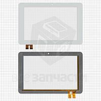 """Сенсор (тачскрин) China-Tablet PC 10,1""""; GoClever Tab R105BK; YuanDao N101; Window N101, белый,78 pin, 263*172"""