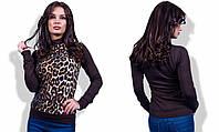 Стильная женская водолазка леопардового принта