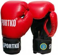 Боксерські рукавиці Sportko ФБУ шкіра 10 унц ПК-1