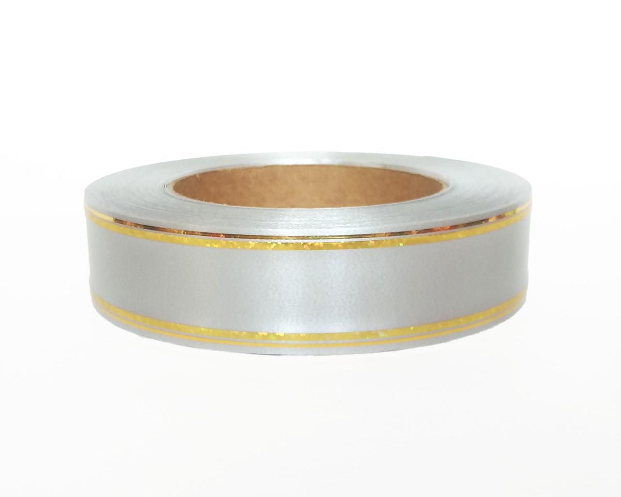 Лента флористическая серебро  (3см х 50ярдов)