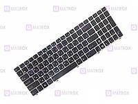 Оригинальная клавиатура для Asus X54L, X55A, X55C, X55Sa, X55Sr series, black, ru, серебристая рамка