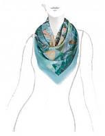 Красивый платок женский 105 на 105 см в 2х цветах XQ42-0815 Eleganzza