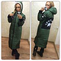 Пальто куртка Convers зеленая
