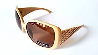 Солнцезащитные очки Provision. Оправа цвета слоновой кости, женская