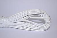 Шнур прошивной из искусственной кожи(22.86м)Белый(лак)