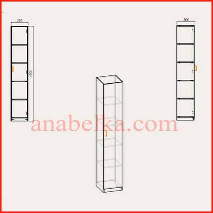 Шкаф распашной КШ-8 (Компанит), фото 2