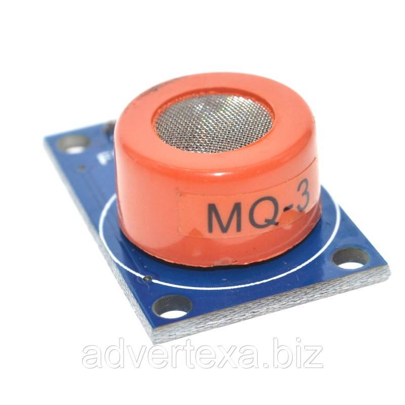 Модуль с датчиком газа MQ3 MQ-3 для обнаружения алкоголя, газа этанол. Для Arduino, AVR, PIC, ARM и др.