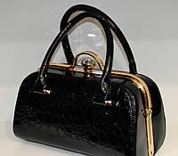 Стильная, лаковая женская сумка, саквояж, Willow, 007413, фото 1