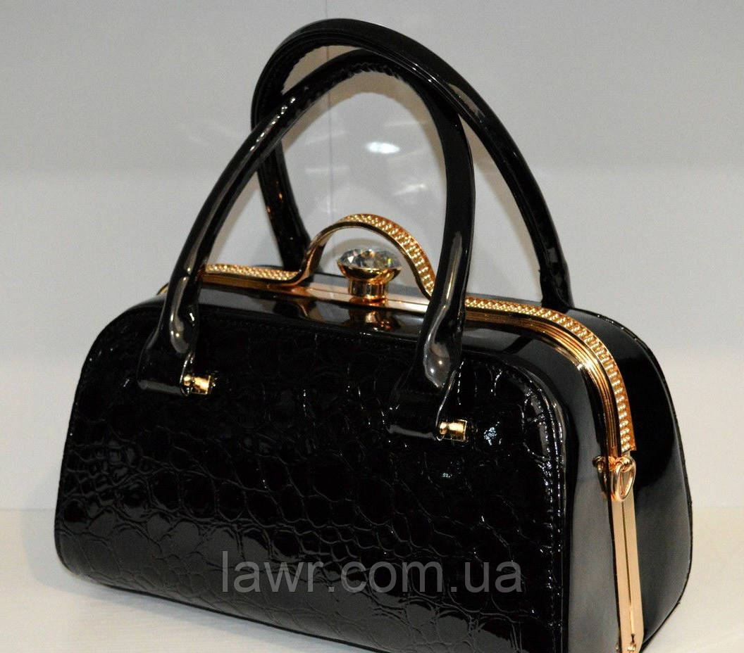 9611d88a55a1 Стильная, лаковая женская сумка, саквояж, Willow, 007413: продажа ...