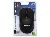 Мышка оптическая беспроводная USB BLOW MB-10 чорна