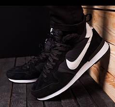 Мужские зимние кроссовки Nike черные топ реплика