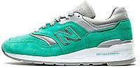 Мужские кроссовки New Balance 997 Abzorb (Нью Беланс) бирюзовые