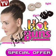 Резинка-валик заколка Hot buns 2 шт. для создания кички или локонов