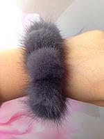 Норковый браслет, резинкаа для волос, цвет  Ирис, фото 1