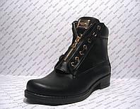 Ботинки женские стильные натуральная кожа черные