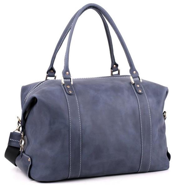 Дорожная сумка саквояж С1 из кожи crazy