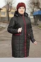 Зимнее  пальто с капюшоном из плащевки на синтепоне размеры 56 58 60 62 64 66