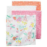 Фланелевые пеленки для новорожденных Цветы экзотика 4 шт набор, 76*101 см Carters