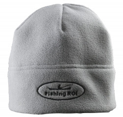 "Шапка-флис ""Fishing ROI"" с логотипом серая"