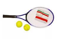 Набор больш.теннис детск. (ракетка, 2мяча, наголовн., напульсн.)