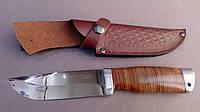 Нож охотничий Танк из кожаным чехлом