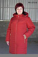 Зимнее пальто из плащевки на синтепоне размеры 60 62 64 66 68 70