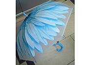 Зонт детский силиконовый Цветок голубенький