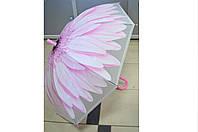 Зонт детский трость Цветок розовый