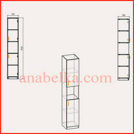Шкаф распашной   КШ-10 (Компанит), фото 2