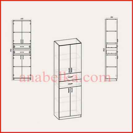 Шкаф распашной с ящиками   КШ-11 (Компанит), фото 2