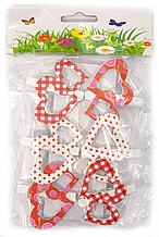 Маленькие прищепки декоративные Сердечки