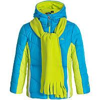 Куртка Pacific Trail лимонно-голубая с шарфом