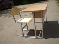 Школьная ученическая мебель (парты регулируемые по высоте, ученические столы и стулья)