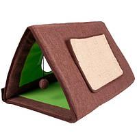 Karlie-Flamingo CAT TENT 3in1 спальное место домик драпак для котов, зеленый