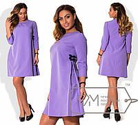 Свободное однотонное платье в больших размерах w-1515890
